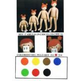 Maniquí niños muñecos de tela pelo en colores.
